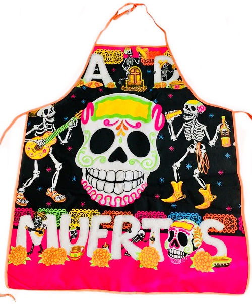 Black and Pink Mexican Apron