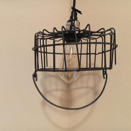 Vintage Wire Egg Basket Pendant Light - Black - TexMex Fun Stuff