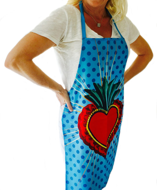 Blue Mexican Apron