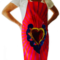 Red Mexican Apron