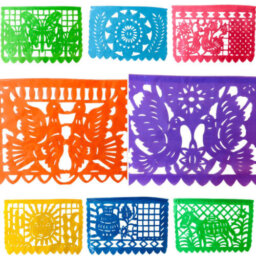 Mexican Papel Picado Flags Horizontal