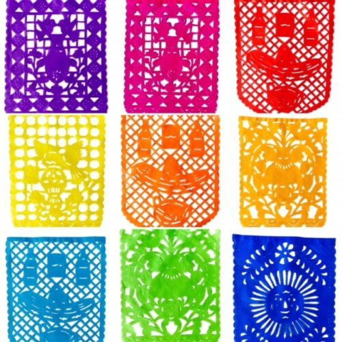 Classic Cantina Papel Picado Flags