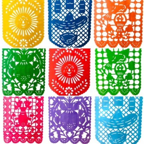 Papel Picado Plastic Flags