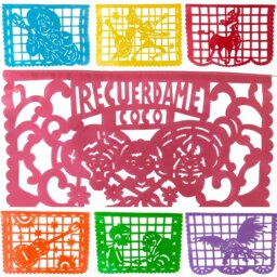 Papel picado hand made in Mexico inspired by Coco the movie.