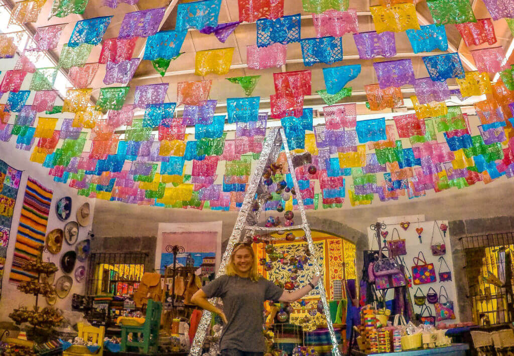 Papel picado punched paper in Tlaquepaque Jalisco with Allison Nevins.