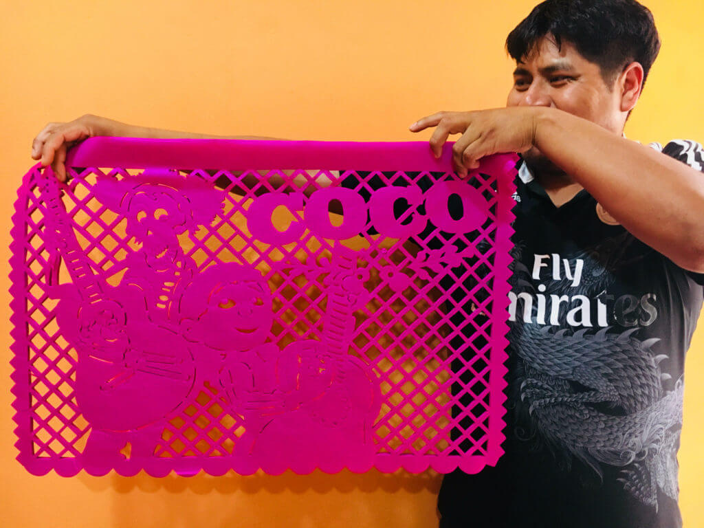 Coco inspired pink papel picado.