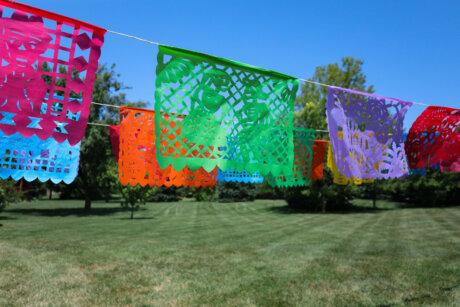 Plastic Day of the Dead papel Picado