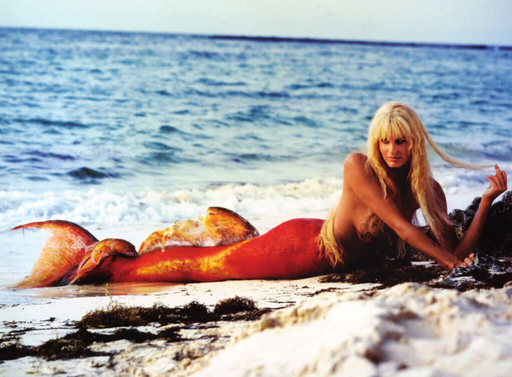 Daryl Hannah the first famous mermaid.