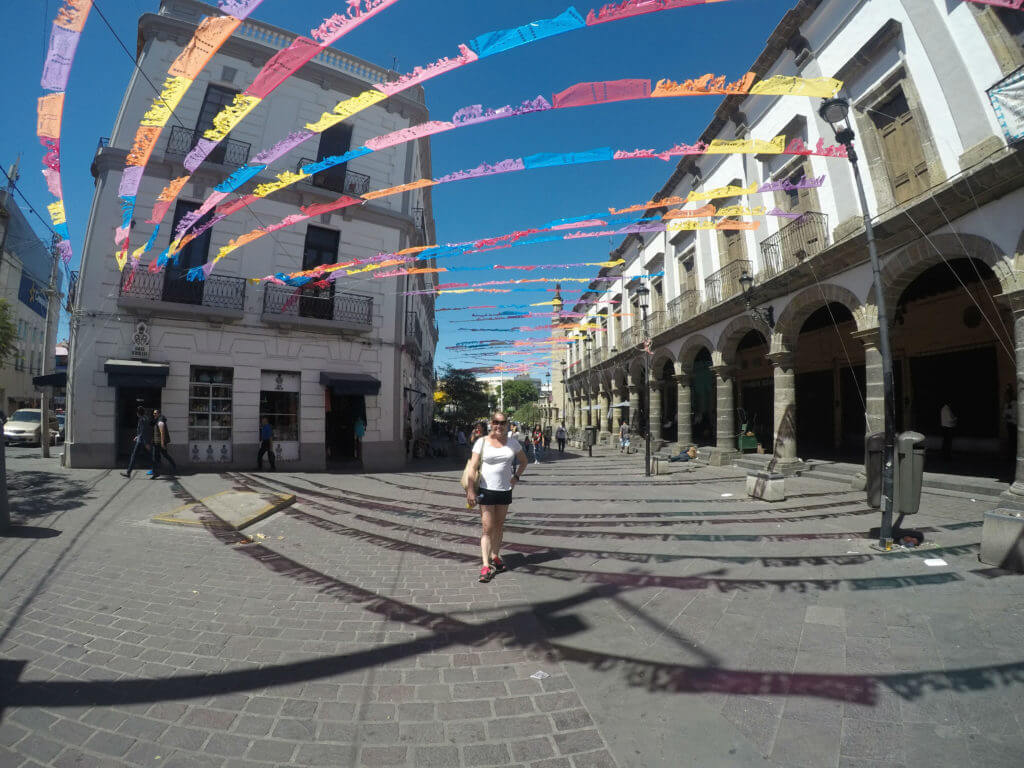 Allison Nevins in the Plaza De Los Mariachis in Jalisco. v2