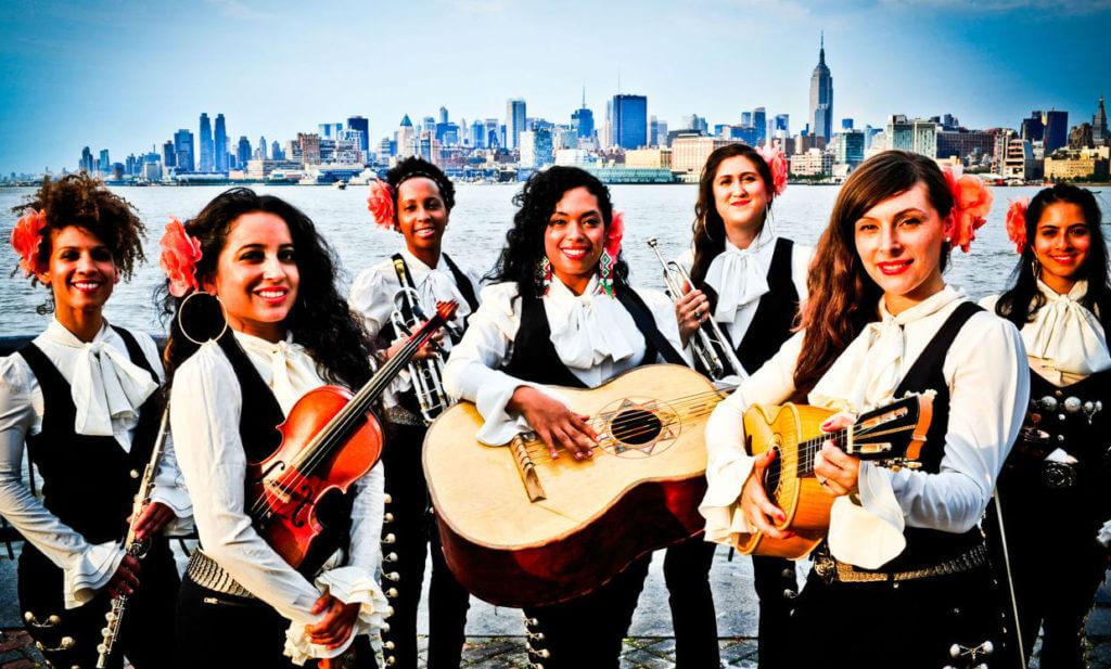 The badass all-female mariachi band Flor De Toloache.