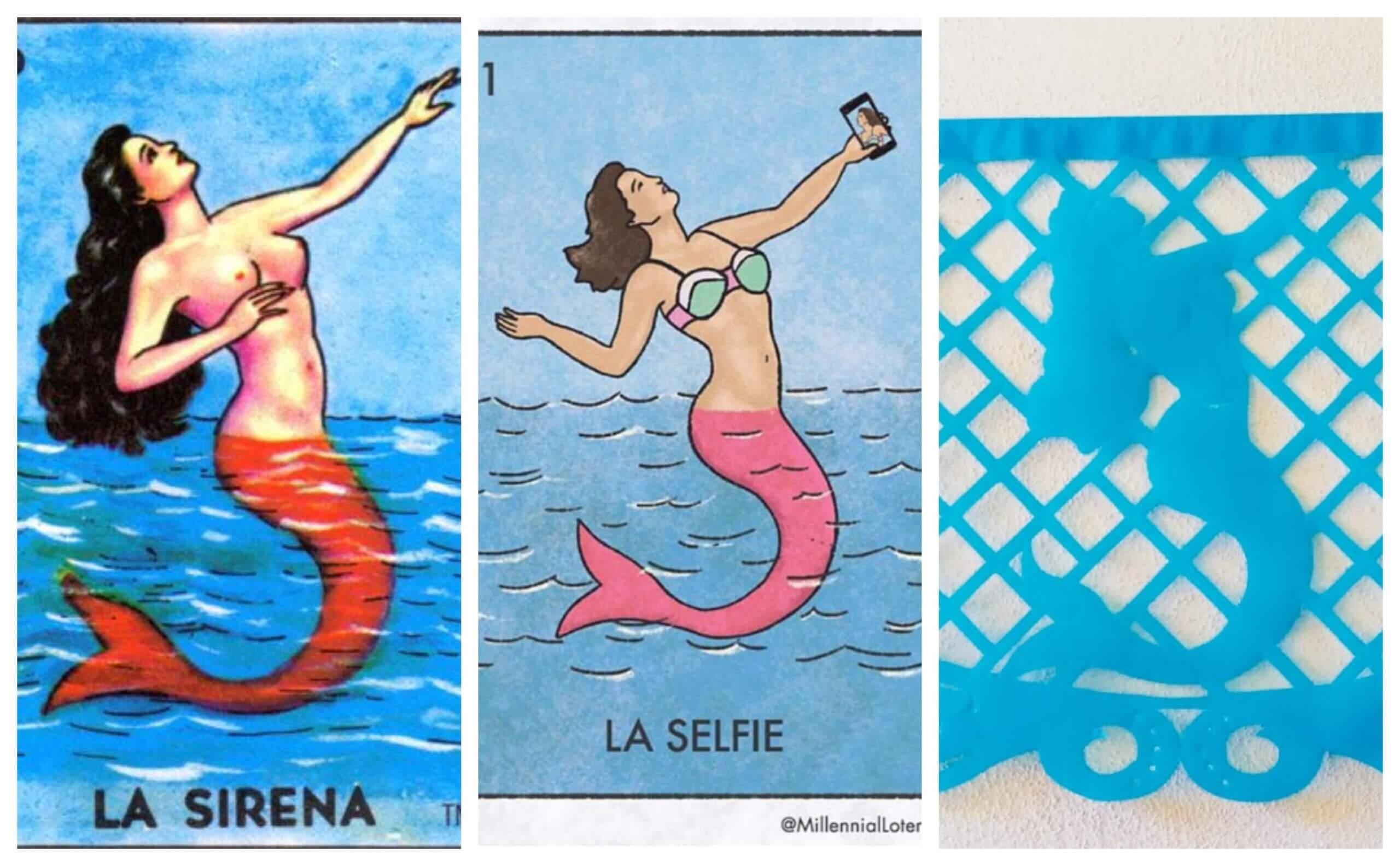 La Sirena papel picado flags from TexMex Fun Stuff.