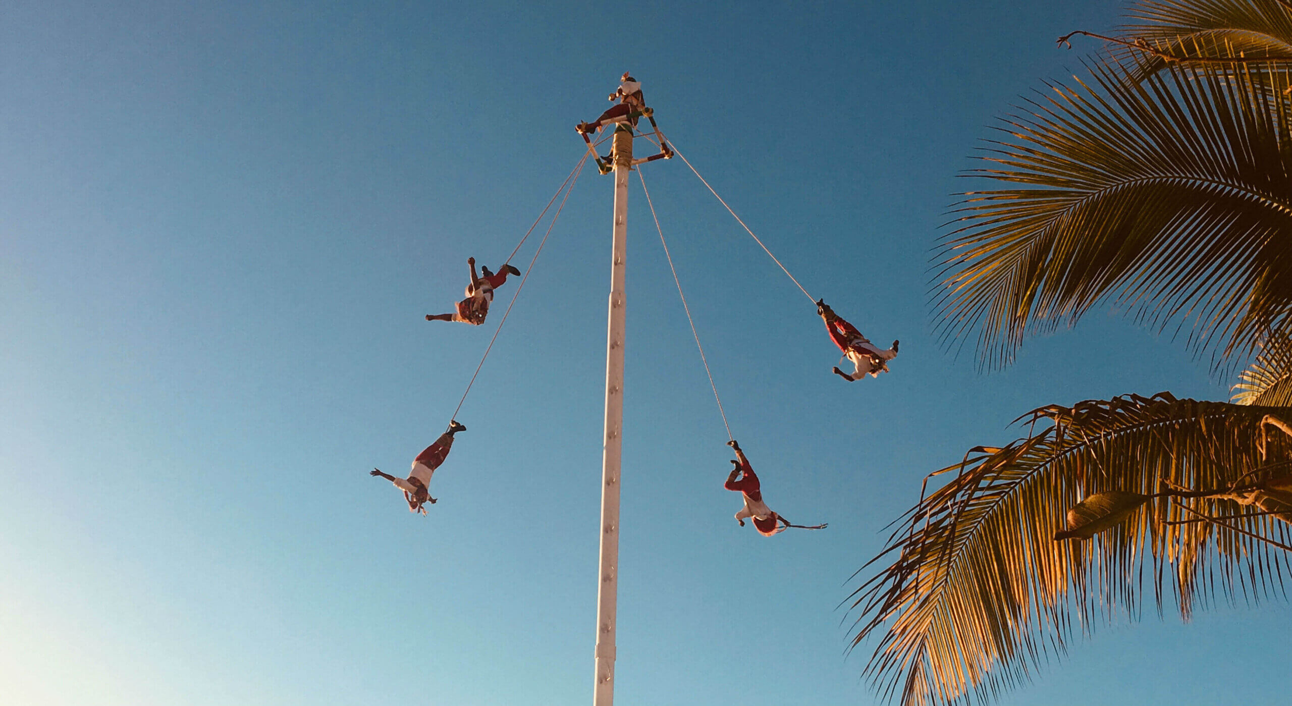 The Danza de los Voladores performing in Puerto Vallarta.