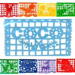 Plastic Coco Pixar movie party banner