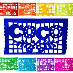 Coco inspired papel picado flags.