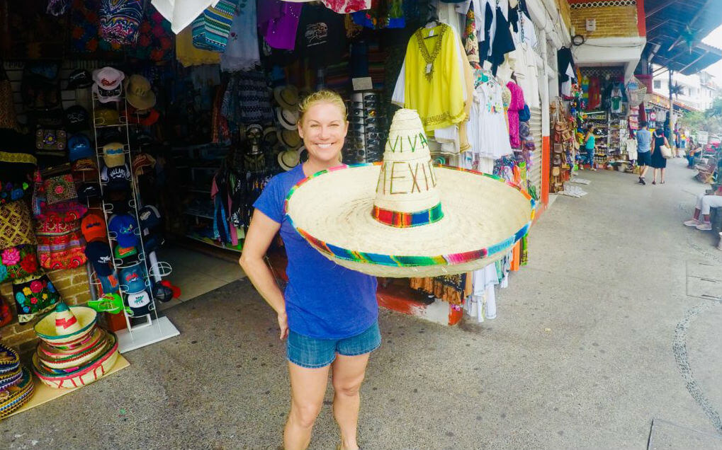 Allison Nevins with a Zapata Sombrero.