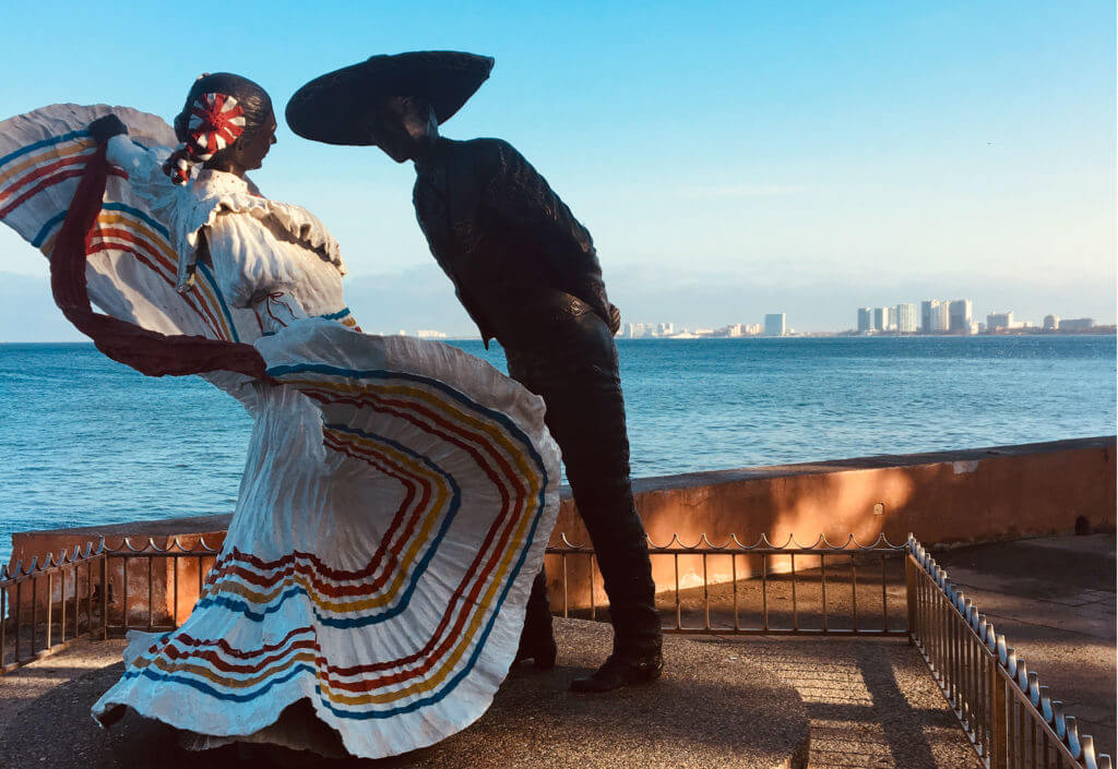 The Mexican Hat Dance statute in Puerto Vallarta.