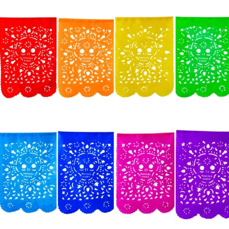 Day of the Dead Skulls Papel Picado
