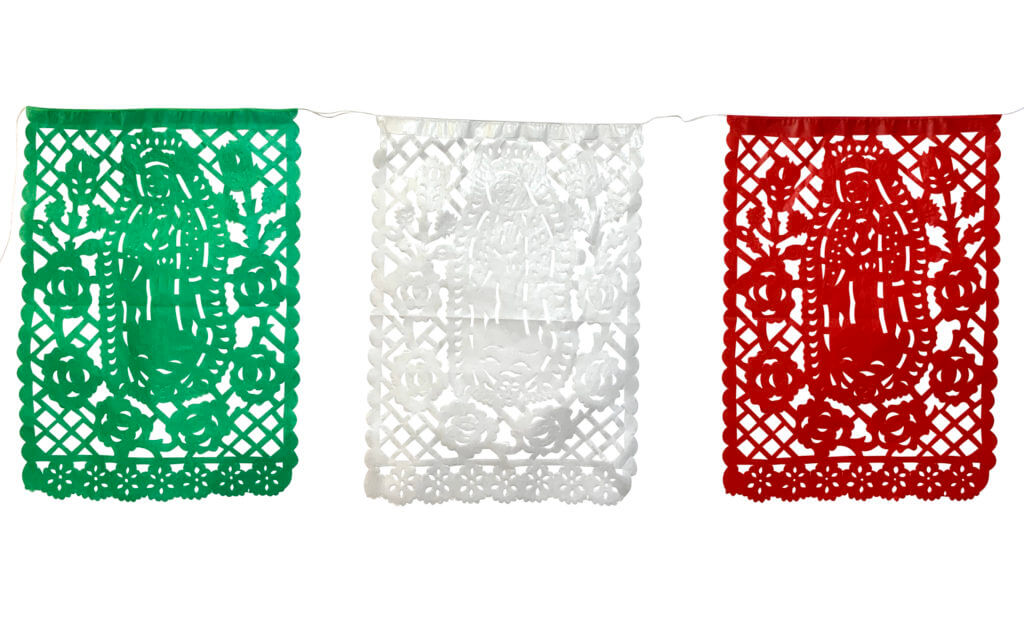 Red White and Green Papel Picado for Navidad