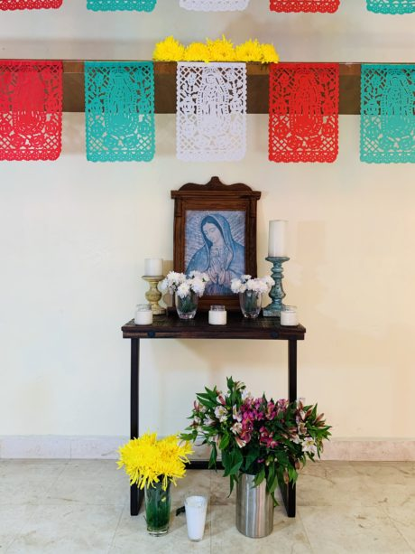 Virgin of Guadalupe Altar for December 12