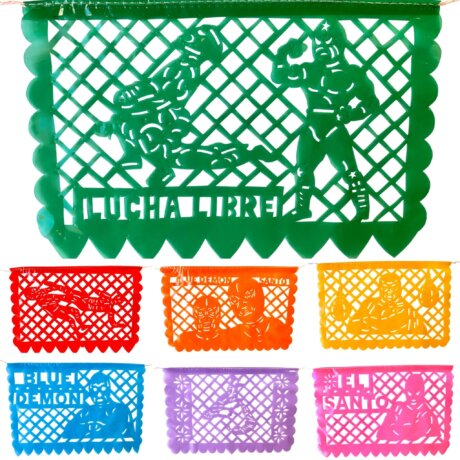 luchador party decor