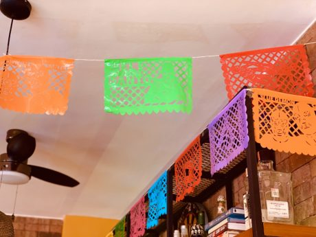 rainbow multicolor plastic fiesta banners