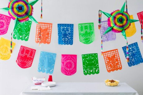 Vertical Cantina Paper Bunting Fiesta
