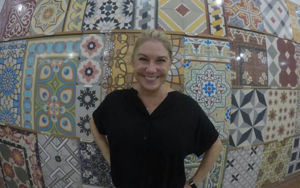 Hand made pasta tiles with Allison Nevins of TexMex Fun Stuff.
